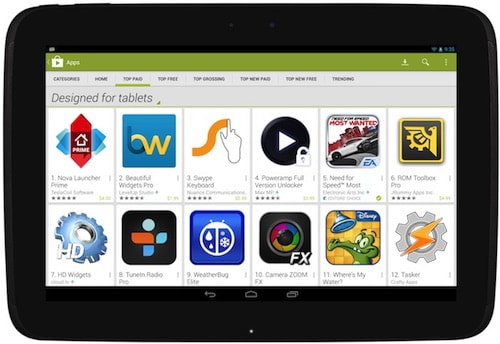 Play Store for Android Tablet